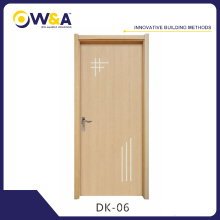 Eco-Friendly Wood Plastic Composite WPC Interior Wooden Door Manufacturer