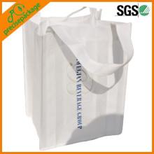 Reusable PP Non Woven 6 Wine Bottle Bags