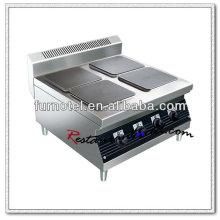 K460 Edelstahl 4 Kochplatten Tischplatte Elektroherd