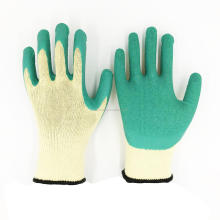 Best Construction Gloves 10 Gauge 5yarn Cotton Lined Latex Crinkle Coated Labour Gloves