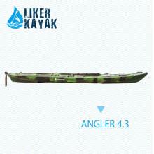 4.3m Fischen Kajak mit Pedalen Fußstütze Kontrolle, Sitz & Trolley 2in1, Motor vorhanden
