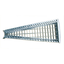 Galvanized steel stair grating spiral staircase stair tread for outdoor projects
