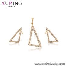 65006 xuping plus nouveau mode simple triangle forme bijoux ensemble pour les femmes