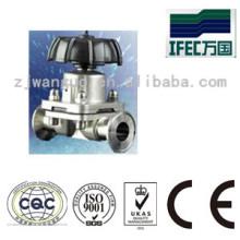 Válvula de diafragma con sujeción sanitaria de acero inoxidable (IFEC-CD100012)