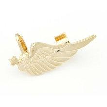 Joyería única EC39 de los pendientes del pun ¢ o del oído del ala del oro y de la plata de la venta caliente