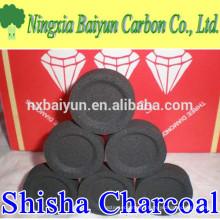 Diameter 33mm shisha charcoal tablets for hookah