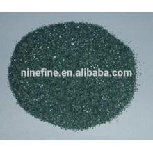 polvo de carburo de silicio verde