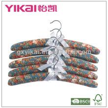 Ensemble de cintres rembourrés rembourrés en coton 5pcs