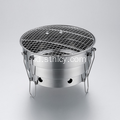 Folding Stainless Steel Round Bbq Grill Untuk Outdoor