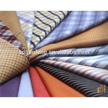 Ready Goods Camisa de manga larga y corta Tejido de hilatura 100% algodón teñida