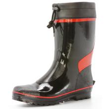 Kurze Black und Red Herren Gummistiefel Regen