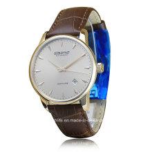 2016 Sapphire Автоматические кожаные наручные мужские наручные часы
