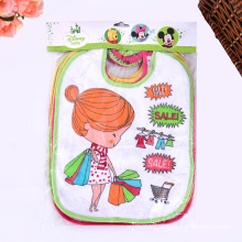 Cotton Colorful Embroidered Cartoon Customized Cute Baby Bibs