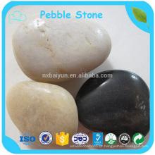 Fábrica Melhor preço Black Decorative Polished River Pebble Stone