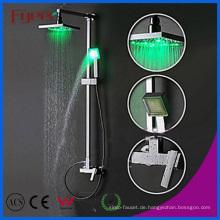 Fyeer Badezimmer Messing Regendusche Set mit LED-Licht (QH336-1F)