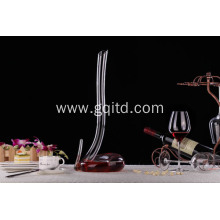 Creative snake shape crystal lead free glass wine decanter