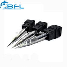 Bocados da gravura do CNC de BFL, ferramentas de corte da forma da gravura V do carboneto mini