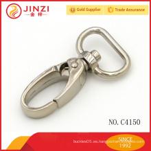 Gancho de resorte del metal, gancho del snap de la aleación del cinc para el bolso, gancho del broche del bolso para el ajuste del metal