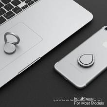 Tenedor caliente del anillo del metal del finger del dedo de la venta 2017 tenedor pegajoso del anillo de finger del grado 360 para el teléfono móvil