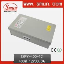 Fuente de alimentación de conmutación de exteriores de 400W 12V 33A Caja IP40 con ventilador de refrigeración