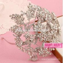 Melhor venda de cristal de moda casamento coroa de tiara nupcial
