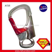 Forjado alumínio duplo bloqueio 30kN personalizar alça de corda