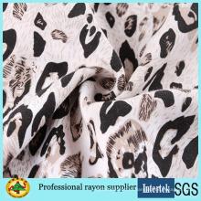 Вискоза с леопардовым принтом для женщин Ткань для платьев