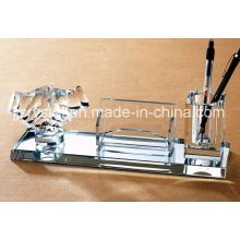 Décoration de table de bureau en verre de cristal de qualité supérieure pour les cadeaux d'affaires