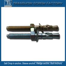 Âncoras de cunha de aço galvanizado M6-M20