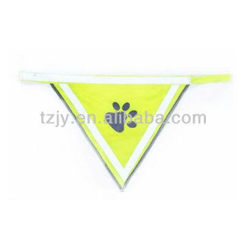 gilet de sécurité réfléchissant jaune polyester 100 % pour chien