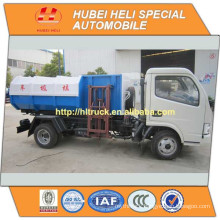 DONGFENG 4x2 5M3 small hanging bucket garbage truck 95hp hot sale for export