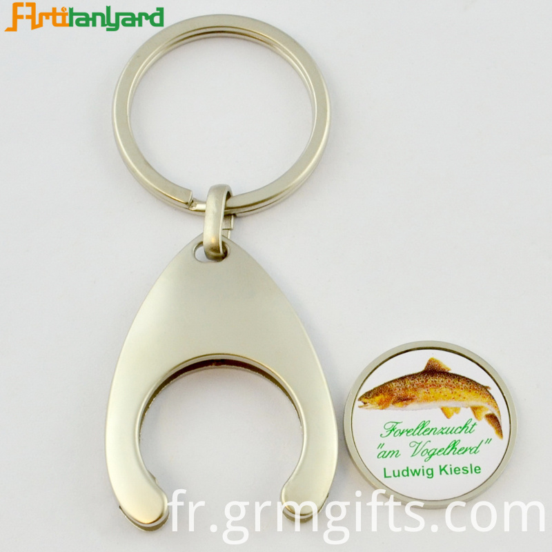 Trolley Coin Key Holder