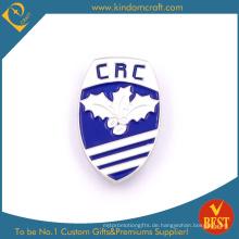 Heißer Verkauf CRC Promotion Schild Form Metall Pin Badge mit Backen Finish