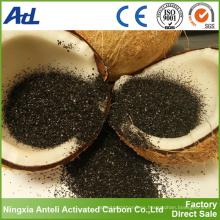 polvo fino de carbón activado