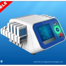 Dispositivo de emagrecimento portátil do uso do salão de beleza Máquina de Lipolysis do corpo do laser de Lipo do comprimento de onda duplo Br319