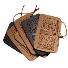 Personalized Embossed Brand Logo Faux/ Genuine Leather Luggage Tag Customized Luggage Tags