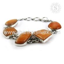 Brillo aventurina piedras preciosas joyas de plata 925 pulsera de plata esterlina joyas de plata hechos a mano