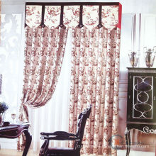 2015 hot sale royal & embroidered luxury curtains with attached valance