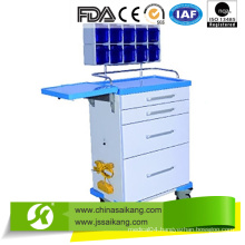 Steel Frame with Plastic Coated Anesthesia Trolley