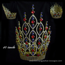 Hot Sale! Rhinestone Pageant Crown Aquamarine Crystal Tiara princess crown for girls queen crown for sale