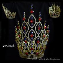 Venda imperdível! Coroa da princesa da tiara do cristal de Aquamarine da coroa do concerto do Rhinestone para a coroa da rainha das meninas para a venda