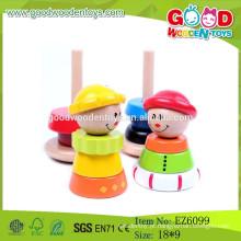 2015 New Hot Sale Tumbling Stacking Tower Toys Brinquedo educacional de madeira