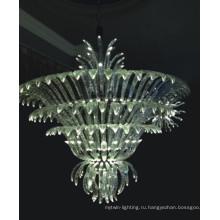Высококачественная прозрачная кристаллическая подвесная лампа для гостиничного проекта