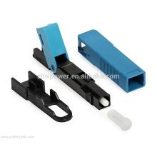 Shenzhen fábrica FTTH fibra óptica rápida conector, SC / APC UPC rápido conector, campo rápido montagem de fibra óptica conector