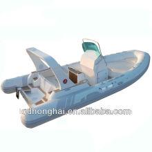 CE 6.8m teak floor rib boat with CE RIB680B
