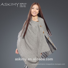 2015 Hand Knitted Wholesale cashmere poncho