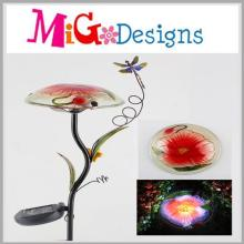 Elegant Solar Lights with Hand-Printing for Yard Decoration