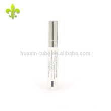 10ml white two color screen printing empty lip balm tube with lip gloss cap