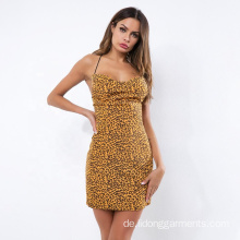 Design Summer Bodycon Western Sexy Leopardenmuster