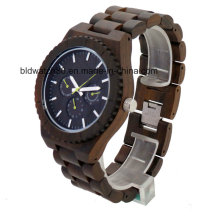 2017 New Waterproof Multifunctional Chronograph Wooden Watches for Men Women